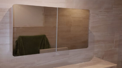 fitted bathroom mirror